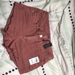 Pink pair of jean shorts!
